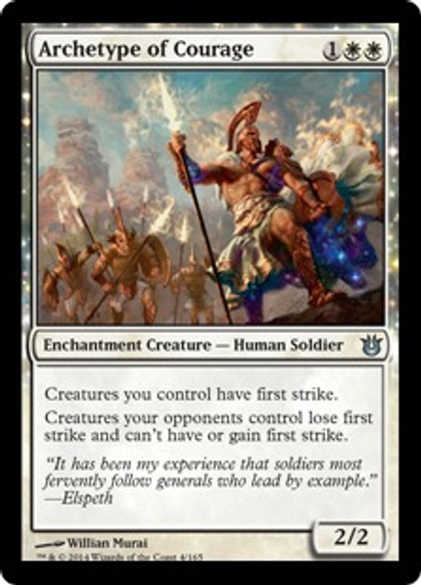 MtG Born of the Gods Uncommon Archetype of Courage #4