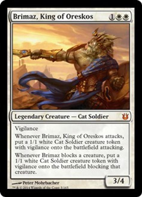 MtG Born of the Gods Mythic Rare Brimaz, King of Oreskos #5