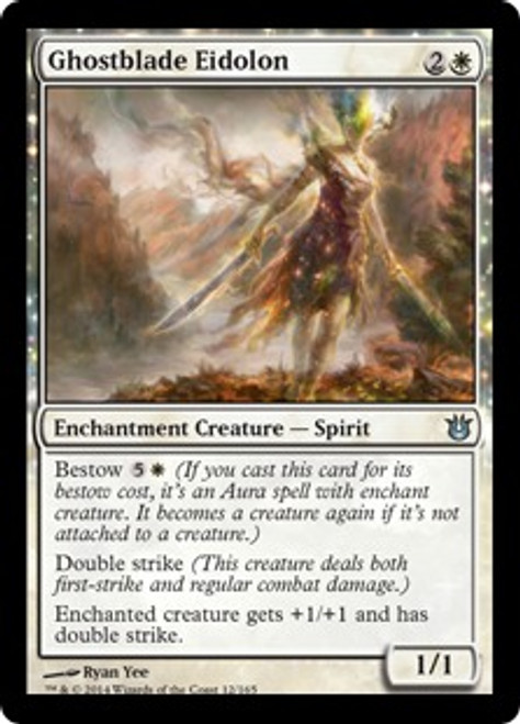 MtG Born of the Gods Uncommon Ghostblade Eidolon #12