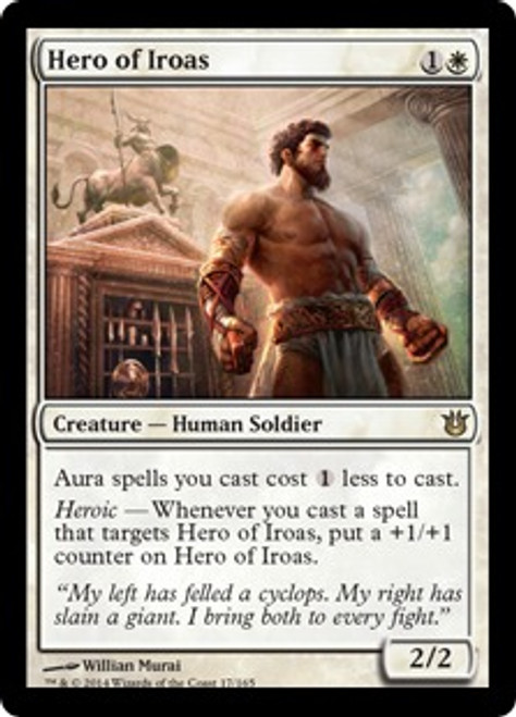 MtG Born of the Gods Rare Hero of Iroas #17