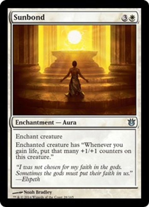 MtG Born of the Gods Uncommon Sunbond #28