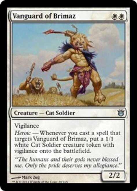 MtG Born of the Gods Uncommon Vanguard of Brimaz #29