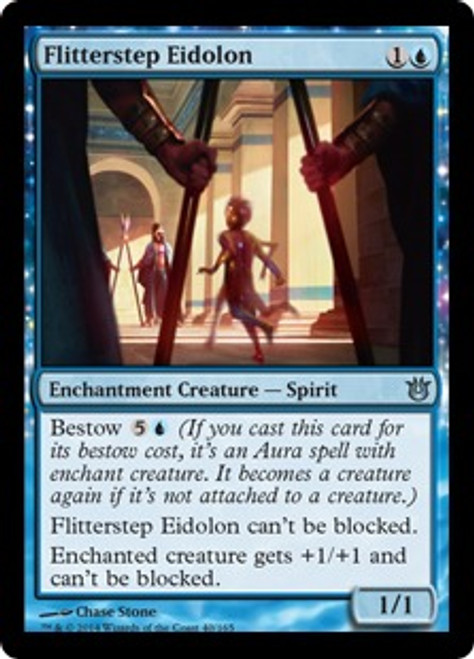 MtG Born of the Gods Uncommon Flitterstep Eidolon #40