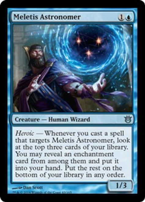 MtG Born of the Gods Uncommon Meletis Astronomer #43