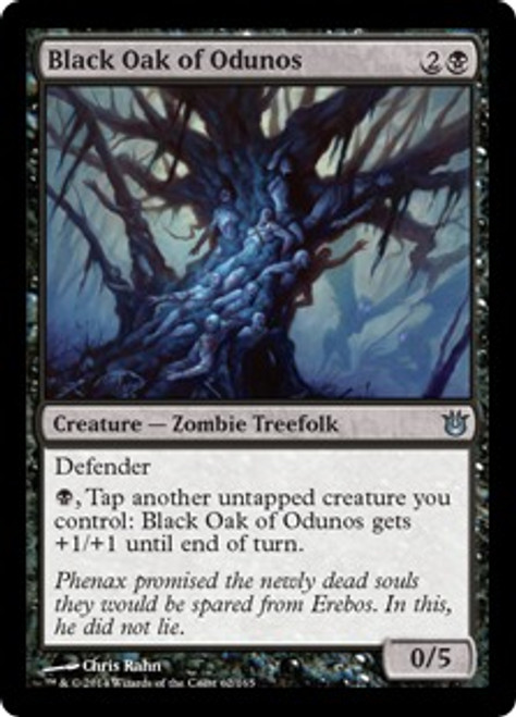 MtG Born of the Gods Uncommon Black Oak of Odunos #62