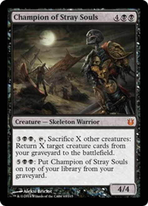 MtG Born of the Gods Mythic Rare Champion of Stray Souls #63