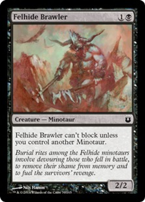 MtG Born of the Gods Common Felhide Brawler #70