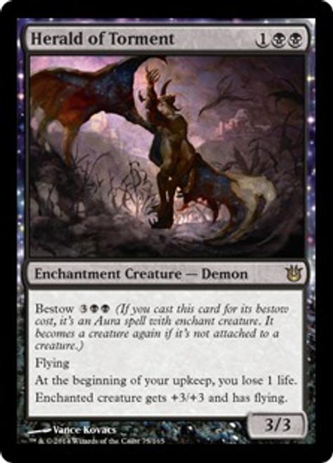 MtG Born of the Gods Rare Herald of Torment #75