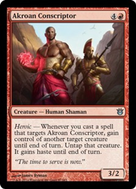 MtG Born of the Gods Uncommon Akroan Conscriptor #87