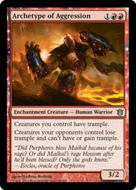 MtG Born of the Gods Uncommon Archetype of Aggression #88