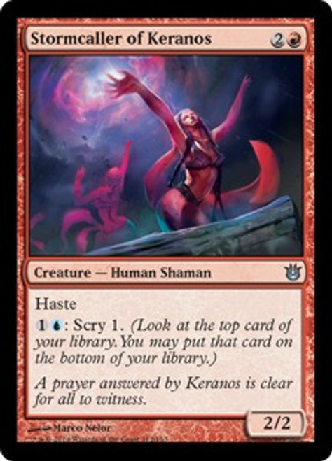 MtG Born of the Gods Uncommon Stormcaller of Keranos #112