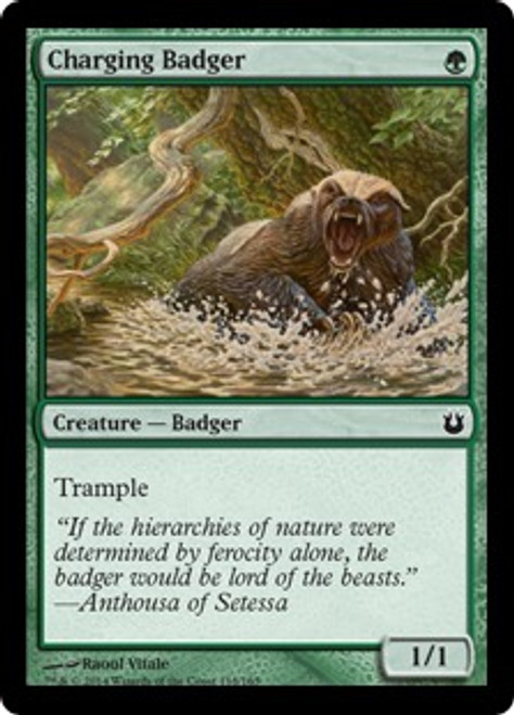 MtG Born of the Gods Common Charging Badger #118