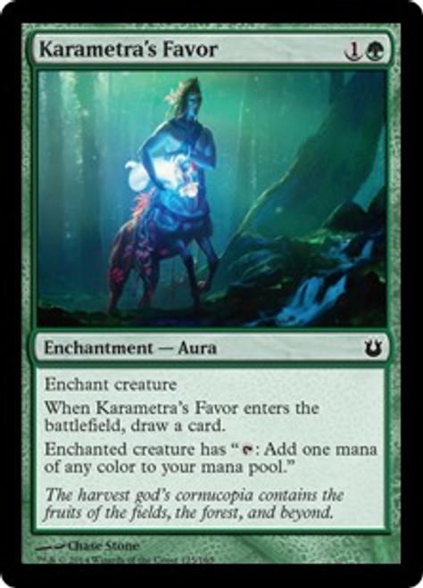 MtG Born of the Gods Common Karametra's Favor #125