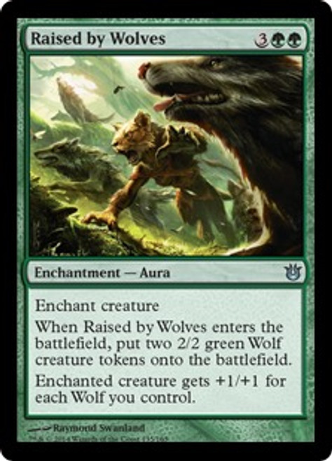 MtG Born of the Gods Uncommon Raised by Wolves #135