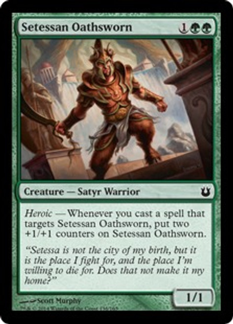 MtG Born of the Gods Common Setessan Oathsworn #138