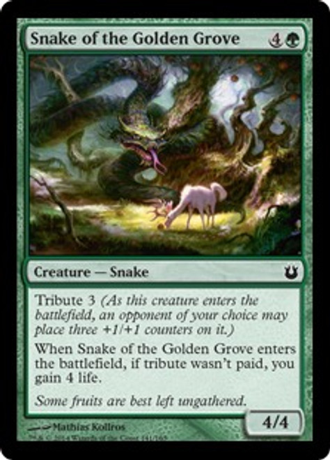 MtG Born of the Gods Common Snake of the Golden Grove #141