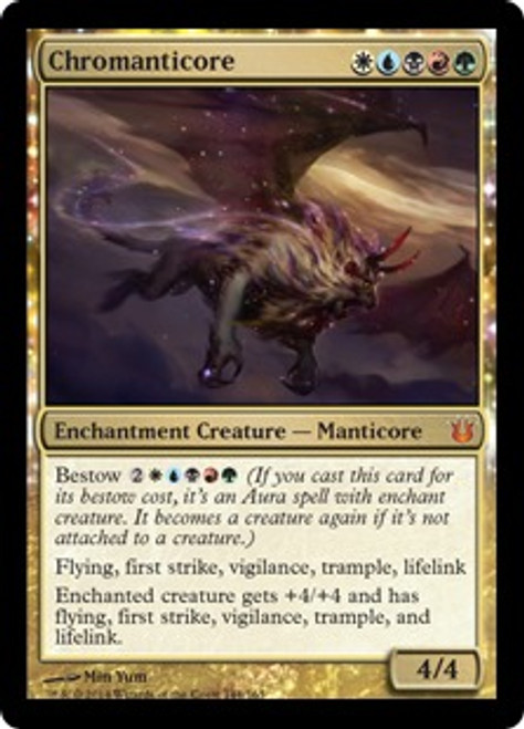 MtG Born of the Gods Mythic Rare Chromanticore #144