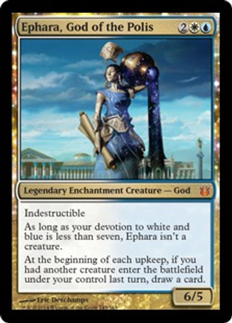 MtG Born of the Gods Mythic Rare Ephara, God of the Polis #145