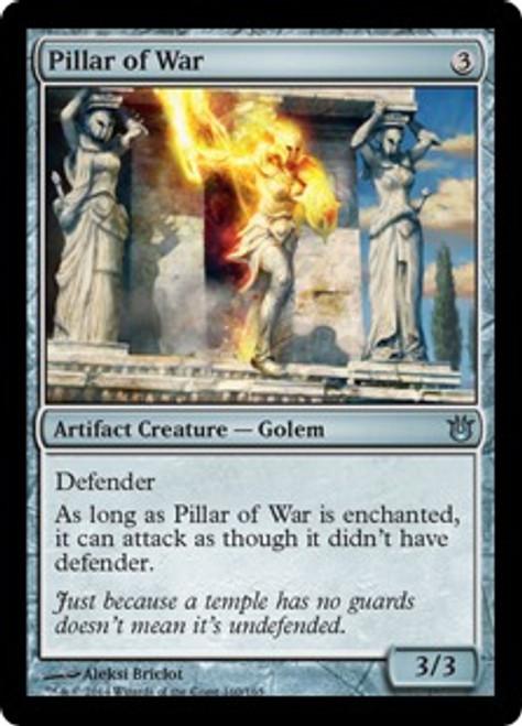 MtG Born of the Gods Uncommon Pillar of War #160