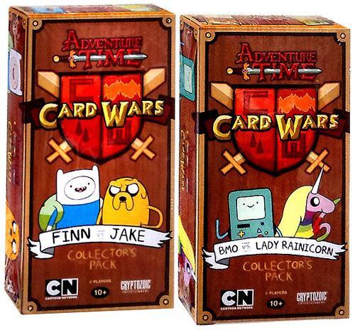Adventure Time Card Wars Finn vs. Jake & BMO vs. Lady Rainicorn Collector's Packs