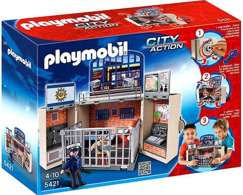 Playmobil City Action My Secret Play Box Police Station Set #5421