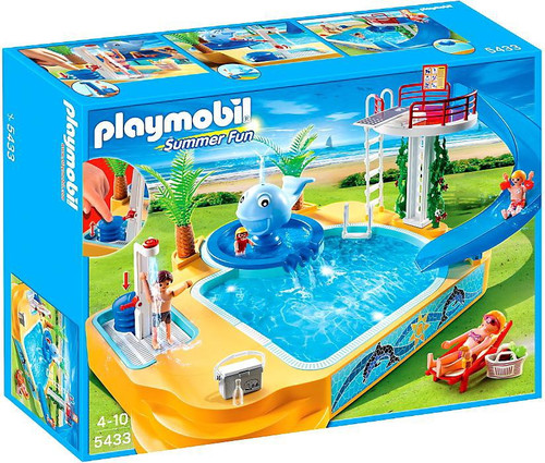 Playmobil Summer Fun Children's Pool with Whale Fountain Set #5433