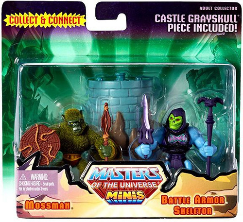 Masters of the Universe Minis Mossman & Battle Armor Skeletor Exclusive Mini Figure 2-Pack