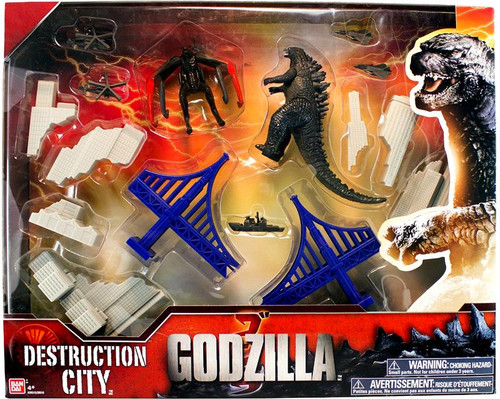 Godzilla 2014 Destruction City Playset [Gray Buildings]