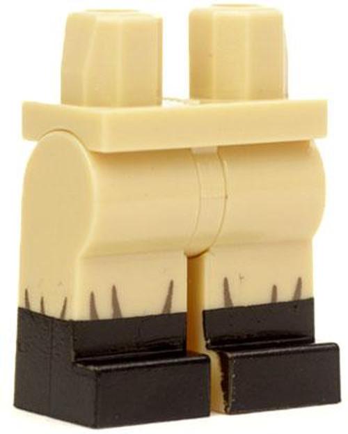 Citizen Brick Custom Painted Minifgure Parts Light Tan with Black Boots Loose Legs [Loose]