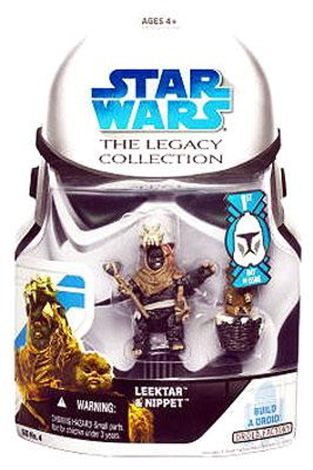 Star Wars Return of the Jedi Legacy Collection 2008 Droid Factory Leektar & Nippet Ewoks Action Figure 2-Pack BD04 [First Day of Issue]