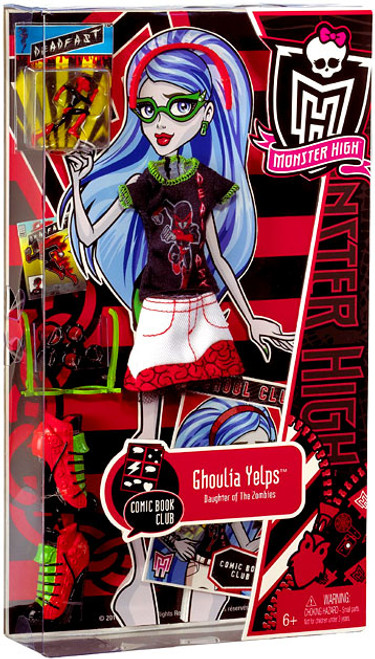Monster High Comic Book Club Ghoulia Yelps 9-Inch Fashion Pack