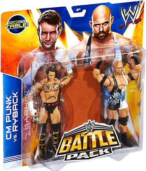 WWE Wrestling Series 29 CM Punk & Ryback Action Figure 2-Pack [Table]