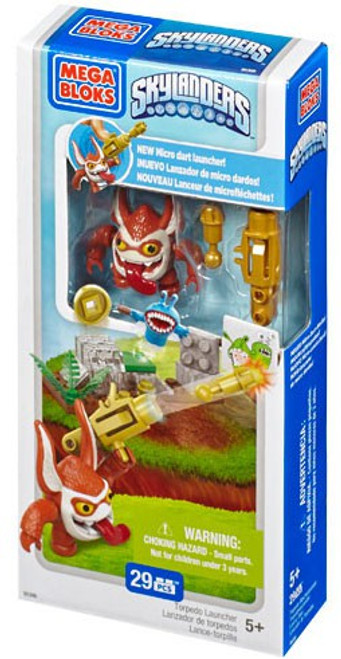 Mega Bloks Skylanders Swap Force Torpedo Launcher Battle Pack Set #95306