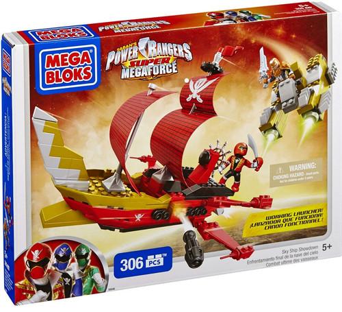 Mega Bloks Power Rangers Super Megaforce Sky Ship Showdown Set #5646