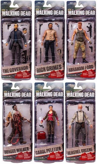 McFarlane Toys AMC TV Walking Dead TV Series 6 Set of 6 Action Figures