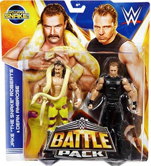 WWE Wrestling Series 30 Jake The Snake Roberts & Dean Ambrose Action Figure 2-Pack [Snake]
