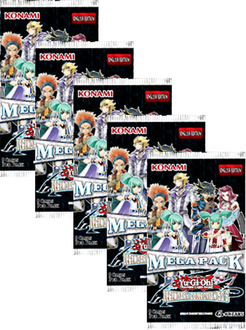 YuGiOh 5D's Legendary Collection Lot of 5 Megas Booster Packs