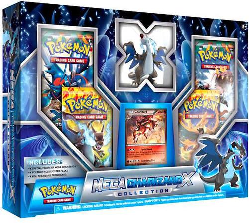 Pokemon Mega Charizard X Collection Figure & Card Set [Blue]