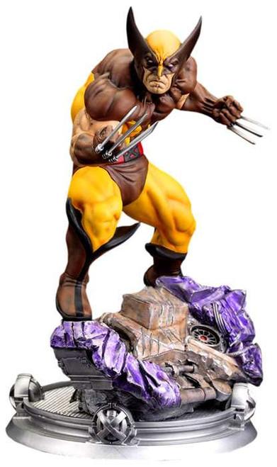 Marvel Wolverine Fine Art Wolverine 16 Statue Brown