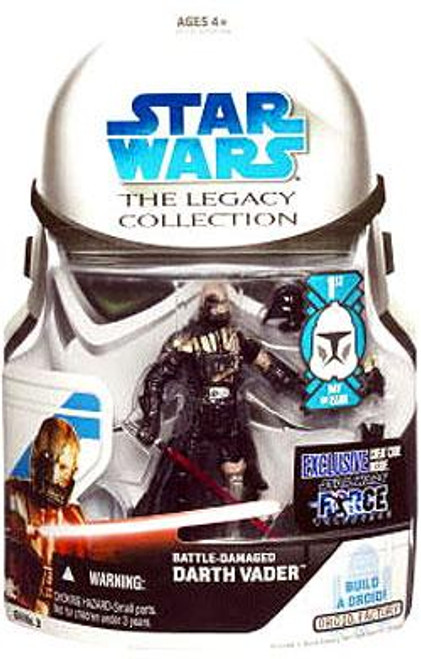 Star Wars Force Unleashed Legacy Collection 2008 Droid Factory Battle Damaged Darth Vader Action Figure GH03 [First Day of Issue]