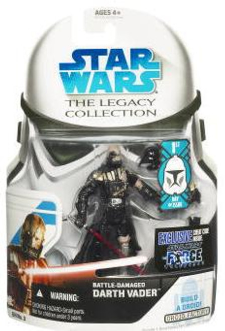 Star Wars Force Unleashed Legacy Collection 2008 Droid Factory Battle Damaged Darth Vader Action Figure GH03