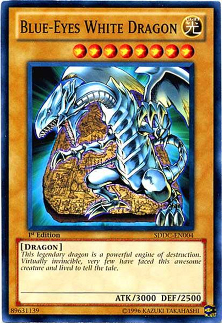 YuGiOh 5D's Structure Deck: Dragons Collide Common Blue-Eyes White Dragon SDDC-EN004