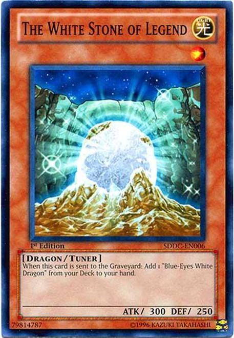YuGiOh 5D's Structure Deck: Dragons Collide Common The White Stone of Legend SDDC-EN006