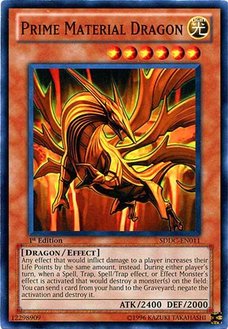 YuGiOh 5D's Structure Deck: Dragons Collide Common Prime Material Dragon SDDC-EN011