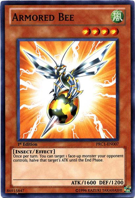 YuGiOh 2012 Premium Collector Tin Super Rare Armored Bee PRC1-EN007