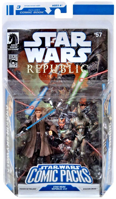 Star Wars Expanded Universe Comic Packs 2009 Anakin Skywalker & Assasin Droid Action Figure 2-Pack #57