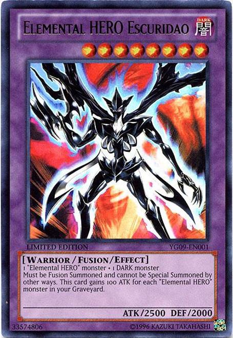 YuGiOh Shonen Jump Ultra Rare Elemental HERO Escuridao YG09-EN001
