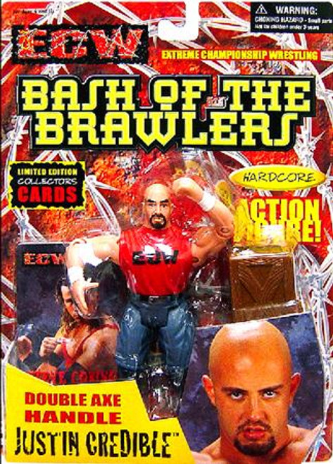 ECW Wrestling Champion Clashers Double Axe Handle Justin Credible Action Figure [Bash of the Brawlers]