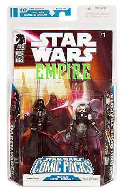 Star Wars Expanded Universe Comic Packs 2009 Darth Vader & Admiral Trachta Action Figure 2-Pack #1