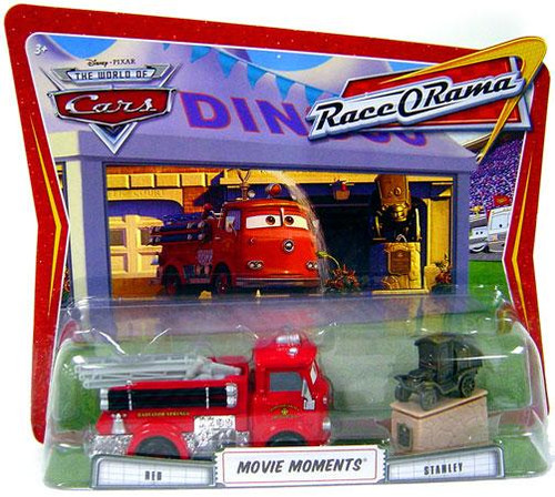 Disney Cars The World of Cars Movie Moments Red & Stanley Diecast Car 2-Pack [Race-O-Rama]